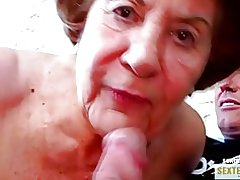 Babica (74) stare požrešen kokusmatte